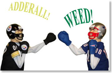 boxing fight adderall weed